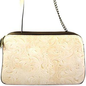 Patricia Nash Waxed Tooled Chambery Natual White
